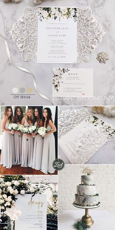 elegant offwhite and champagne neutral wedding invitations Elegant Wedding, Rustic Wedding, Wedding Knot, Neutral Wedding Colors, Laser Cut Wedding Invitations, Wedding Details, Wedding Ideas, White Flowers, Champagne