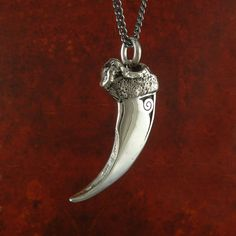 Bear Claw Necklace Antique Silver Bear Claw Pendant by LostApostle