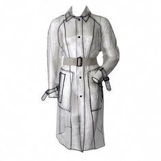 - Prada Clear Vinyl Raincoat Trench F/W 2002 Girls Raincoat, Raincoat Jacket, Yellow Raincoat, Rain Jacket, Vinyl Raincoat, Raincoats For Women, Vintage Coat, Cut Jeans, Fashion Styles