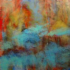 Original Encaustic Painting - Abstract - Landscape - Fine Art - Vibrant Colors by StudioEarthArt on Etsy https://www.etsy.com/listing/584740516/original-encaustic-painting-abstract