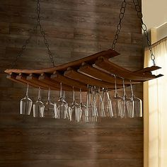 Barrel Stave Hanging Stemware Rack |//| #BesodeVino Beso de Vino