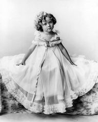 Shirley Temple- Born Apr.23, 1928-  She got her start in movies at the age of three and soon progressed to super stardom. Shirley was box-office champion for the consecutive years 1935-36-37-38, beating out such great grown-up stars as Clark Gable, Bing Crosby, Robert Taylor, Gary Cooper and Joan Crawford. Known for roles in Bright Eyes; The Little Colonel; Curly Top; Wee Willie Winkie; Heidi; The Little Princess; Since You Went Away; The Bachelor and the Bobby-Soxer.