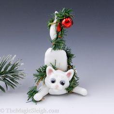 228 best Cat Christmas Ornaments images on Pinterest | Cat christmas ...
