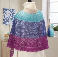 Wild Garden Knit Shawl | The springtime colors of this lightweight knit shawl are perfect for ushering in warmer weather.