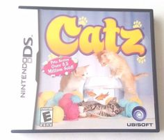 Nintendo DS Dsi Dsl Game CATZ w/ Case 13 Breeds of Cats Simulation Kids Learning