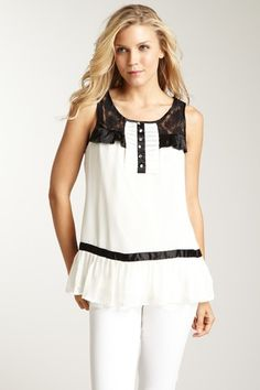 Coupe Sleeveless Top with Lace