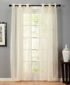 Loving this Linen Valona Voile Panel Pair - Set of Two on #zulily! #zulilyfinds