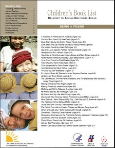 Great resource on a list of children's books that can be used to teach social and emotional competence to children.