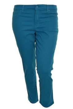 Gloria Vanderbilt Sadie Modern Fit Jeans 14 Short Stretch Holds Shape Teal New