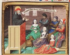 St. Jerome Preaches, from Augustine, La Cité de Dieu, Book IX, illustrated by Maitre Francois, c. 1475-1480