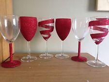 Multi Glitter Wine Glass Champagne Flute All Occasions Glittery Glasseware