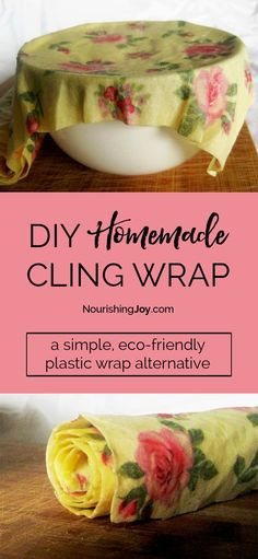 DIY homemade cling wrap is an eco-friendly, creative solution to using plastic wrap in your kitchen. Even better, it takes mere minutes to make!