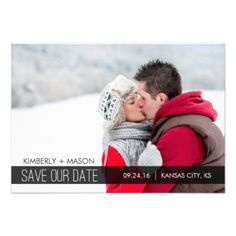 "Simple Stripes Wedding Save the Date Mini Invitation / Black 3.5 x 5 inches Other sizes available when you click on the ""customize it"" button #simple #modern #stripes #striped #save #the #date #small #mini #photo #wedding #black #winter #simple #save #the #date #mini #save #the #date #mini #modern #save #the #date #photo #save #the #date #snow #white"