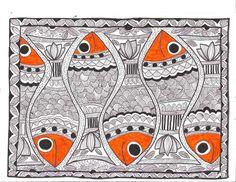 Madhubani Painting - fish
