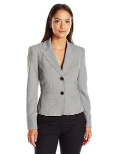 Kasper Women's Petite 2 Button Jacket >>> This is an Amazon Affiliate link. You can find more details by visiting the image link.