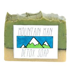 This natural Mountain Man Homemade Detox Soap Recipe comes with free printable labels for gifting to your favorite guy on special occasions or just because! Makes a unique DIY Christmas gift for a boyfriend or even Dad!