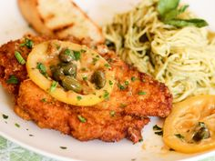 Chicken Piccata: Pan-Fried Breaded Chicken Cutlets with Lemon & Caper Sauce – Homemade Italian Cooking Meat Recipes, Chicken Recipes, Cooking Recipes, Recipe Chicken, Turkey Recipes, Delicious Recipes, Dinner Recipes, Yummy Food, Fried Breaded Chicken
