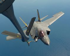 F-35C Refuels from USAF KC-135