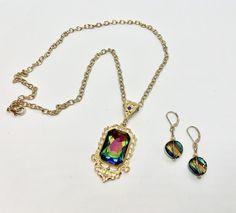 Reserved for N.L. ONLY Leaf Necklace, Necklace Set, Gold Necklace, Pendant Necklace, Swarovski Crystal Necklace, Swarovski Crystals, Filigree Ring, Gold Flowers, Gold Chains