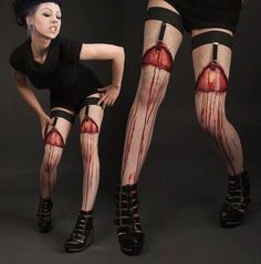 These are probably the most amazing garters/stockings I have ever seen.