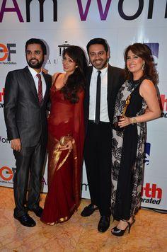Karan Gupta, Vidya Malvade, Nitish Shah and Amrita Raichand at the I Am Woman event