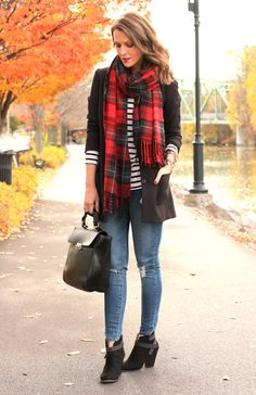 Plaid and strips, hmmm this works!