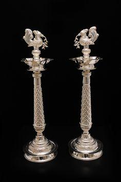 www.vummidisilverware.com product_det.php?id=156&cid=18 Jewelry Design Earrings, Gold Jewellery Design, Silver Jewelry, Stud Earrings, Antique Metal, Antique Silver, Silver Lamp, Silver Trays, Silver Home Accessories