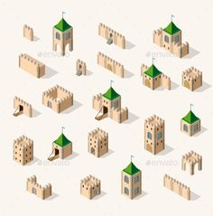 Buy Medieval Fortress Fort by alexzel on GraphicRiver. A Vector illustration, that may be needed crea. Building Illustration, Photo Illustration, Illustrations, Ancient Architecture, Architecture Art, Vector Design, Vector Art, Graphic Design, Minecraft