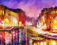 OIL ON CANVAS PAINTING DIRECTLY FROM FAMOUS ARTIST LEONID AFREMOV Title: Evening Size: 30 x 40 inches (75cm x 100cm) Condition: Excellent Brand new Gallery Estimated Value: $8,500 Type: Original Recreation Oil Painting on Canvas by Palette Knife This is a recreation of a piece which was already sold. Its not an identical copy, its a recreation of an old subject. This recreation will have texture unique just to this painting, a fingerprint that can never be repeated. My recreation will look…