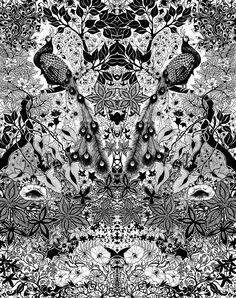 Inked by Johanna Basford. Peacocks