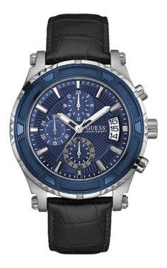 92586G0GSNC3 Relógio Masculino Pulseira de Couro Guess