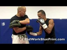 Basic 9 Punch Boxing Pad Work Drills Combo Series 41-14 Focus Mitt - YouTube