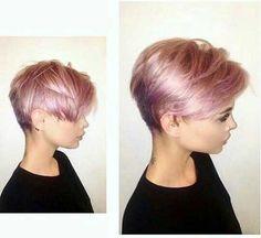 En Or Rose, Cheveux Courts