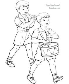 17 mai feiring fargeleggingsoppgave - Is - Fargeleggingsark 17. Mai, Coloring For Kids, Coloring Pages, Fun Crafts, Diy And Crafts, Constitution Day, Summer Fun For Kids, Colorful Pictures, Fourth Of July