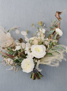 Creative and unique textural fall bouquet in cream and golden brown with dried flowers and grasses tied with velvet ribbon Virginia Wedding Richmond VA Tuckahoe Plantation Wedding Dried Flower Bouquet, Flower Bouquet Wedding, Dried Flowers, Floral Wedding, Fall Wedding, Purple Wedding, Fall Bouquets, Bride Bouquets, Floral Bouquets