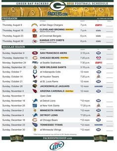 The Packers schedule is out, time to buy tickets and make reservations!