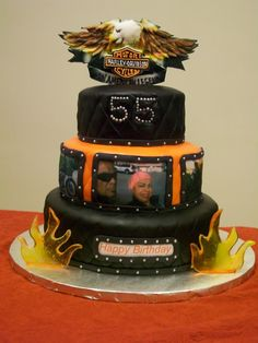 motorbike themed wedding cakes harley davidson birthday cake all fondant harley logo 17596