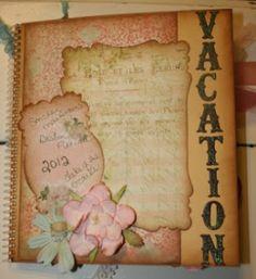 Shabby Beautiful Scrapbooking: Shabby Chic Vacation Smash Book