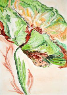 A4 pastele - Kwiat - Flower Na sprzedaż / For sale