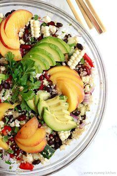 beautiful and hearty quinoa salad