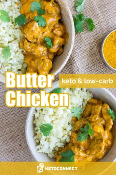 A keto butter chicken recipe that isn't overly complicated with dozens of ingredients. Try this recipe as an introduction to keto indian food. Ketogenic Recipes, Low Carb Recipes, Diet Recipes, Chicken Recipes, Healthy Recipes, Keto Chicken, Keto Foods, Recipes Dinner, Dessert Recipes