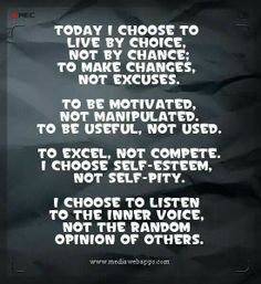 Today I choose
