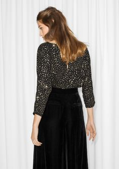 & Other Stories image 3 of Sparkle Blouse in Black