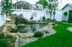 Beautiful Backyard Fish Pond Landscaping Ideas 26 image is part of 50 Beautiful Backyard Fish Pond Garden Landscaping Ideas gallery, you can read and see another amazing image 50 Beautiful Backyard Fish Pond Garden Landscaping Ideas on website Pond Design, Landscape Design, Garden Design, Backyard Water Feature, Ponds Backyard, Garden Ponds, Backyard Ideas, Outdoor Fish Ponds, Sloped Backyard