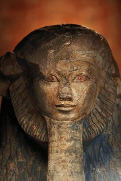 Sphinx of Queen Hatshepsut, Ancient Egypt Pharaoh. Egyptian Queen, Ancient Egyptian Art, Ancient History, Objets Antiques, Architecture Antique, Statues, Art Antique, Lion Mane, Ancient Artifacts