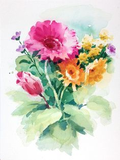 Learn The Ins And Outs Of Painting Flowers In Watercolor Using A Garden Or Bouquet