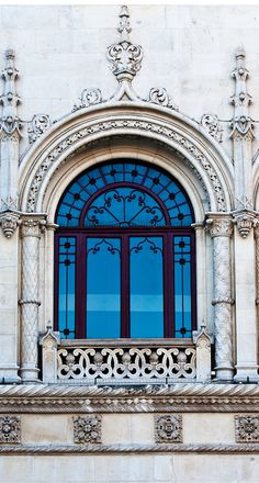 Window detail at Rossio Station