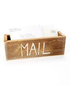 Distressed 'Mail' Planter Box