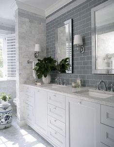 master bathroom inspiration Georgian Dream - traditional - bathroom - raleigh - by Heather Garrett Design Bathroom Renos, Laundry In Bathroom, Small Bathroom, Master Bathroom, Bathroom Ideas, White Bathroom, Bathroom Designs, Bathroom Wall, Bathroom Cabinets