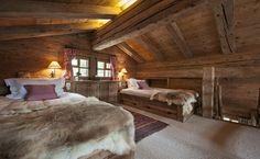 60 interior design ideas, decorations and chalet-style furniture Chalet Design, Chalet Style, Ski Chalet, Alpine Chalet, Cabin Homes, Log Homes, Bedroom Loft, Bedroom Decor, Chalet Interior